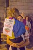 罗希亚蒙塔讷抗议在布加勒斯特,罗马尼亚(24) 免版税图库摄影