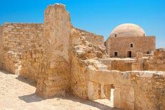 罗希姆诺威尼斯式堡垒  克利特希腊海岛 图库摄影
