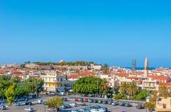 罗希姆诺都市风景 免版税库存图片