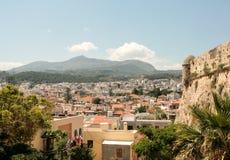 从罗希姆诺,克利特,希腊的好的看法 免版税库存图片