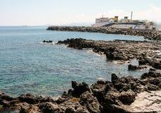 从罗希姆诺,克利特,希腊的好的看法 免版税图库摄影