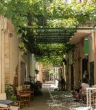 罗希姆诺,克利特,希腊街道  库存照片