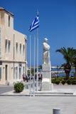 罗希姆诺,克利特,希腊-对无名战士阿尼奥的纪念碑 免版税库存图片