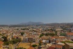 罗希姆诺,希腊- 2016年7月30日:全景向罗希姆诺fr 库存照片