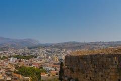 罗希姆诺,希腊- 2016年7月30日:全景向罗希姆诺fr 库存图片