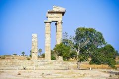 阿波罗寺庙,罗得岛,希腊 库存图片