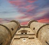 罗得岛中世纪骑士城堡(宫殿),希腊 图库摄影