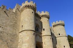 罗得岛加强了城堡 免版税库存照片