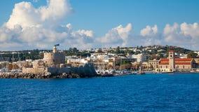 罗得岛希腊海岸  库存图片