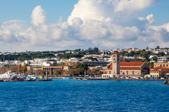 罗得岛希腊海岸  图库摄影