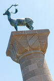 罗得岛希腊雕象 免版税库存照片