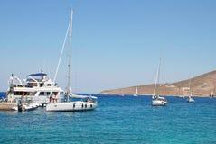 罗得岛杯赛船会,蒂洛斯岛 库存照片