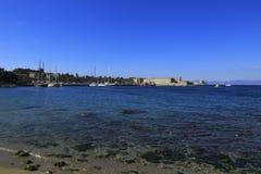 罗得岛海岛口岸 免版税库存图片
