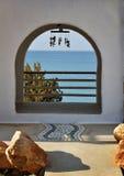 罗得岛海岛海滩的议院 免版税图库摄影
