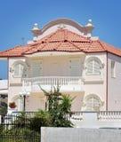 罗得岛海岛白色的议院 免版税库存照片
