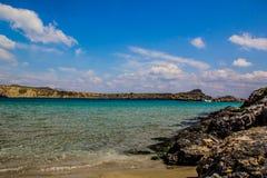 罗得岛海视图 免版税库存照片