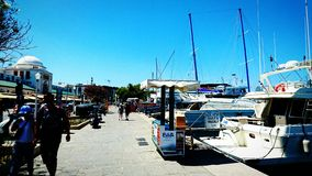 罗得岛港口 免版税库存照片