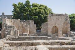 罗得岛的考古学站点 库存照片