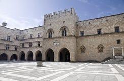 罗得岛的骑士的大师的宫殿 库存图片