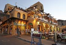罗得岛老镇在夜之前 希腊 免版税图库摄影