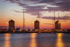 罗得岛镇风车 图库摄影
