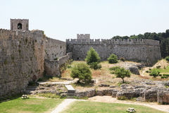 罗得岛,希腊的骑士的大师的宫殿 库存照片