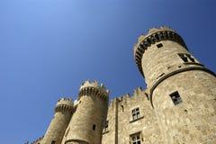 罗得斯中世纪骑士城堡,希腊 库存图片