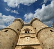 罗得斯中世纪骑士城堡(宫殿),希腊 免版税图库摄影