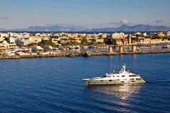 罗得斯港口,希腊 免版税图库摄影