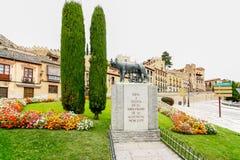 罗慕洛和Remus在塞戈维亚, 库存图片