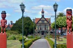罗托路亚艺术馆和历史-新西兰 免版税库存照片