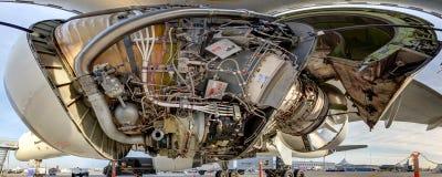 罗斯劳艾氏RB211-535E4引擎 库存图片