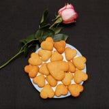 罗斯和曲奇饼 免版税库存图片