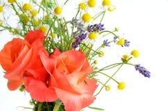 罗斯和草本花 库存图片