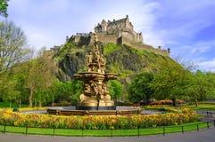 罗斯喷泉地标在爱丁堡,苏格兰 免版税库存照片