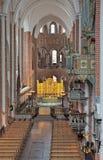 罗斯基勒大教堂,丹麦内部  免版税库存照片