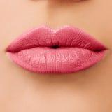 罗斯女性嘴唇宏观照片  库存照片