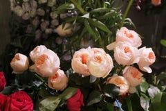 罗斯婚礼花束 图库摄影