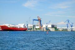 罗斯托克港口 库存图片