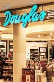 罗斯托克,德国- 2016年5月12日:Parfumerie道格拉斯是一家全球性香料厂商店 免版税库存照片