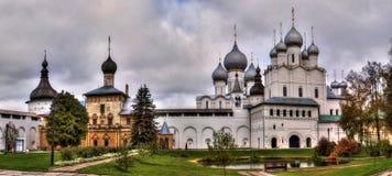 罗斯托夫克里姆林宫,金黄圆环,罗斯托夫Velkii,俄罗斯 免版税库存照片