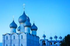 罗斯托夫克里姆林宫,金黄圆环,俄罗斯 库存照片