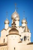 罗斯托夫克里姆林宫,金黄圆环,俄罗斯 免版税库存照片
