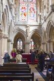 罗斯格教堂的内部 库存图片