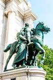 罗斯福古铜雕象 图库摄影
