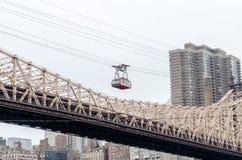 罗斯福岛空中缆车,纽约 库存图片