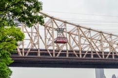 罗斯福岛空中缆车,纽约 免版税库存图片