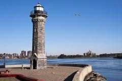 罗斯福海岛灯塔 免版税图库摄影