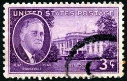 罗斯福总统邮票 库存照片