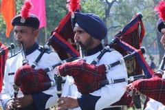 罗斯节日、黄铜和管子结合竞争,昌迪加尔,印度 库存照片